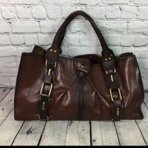 Kate Landry Brown Leather Tote Purse